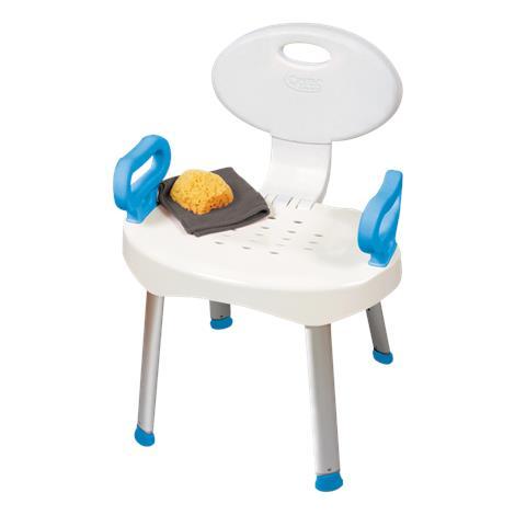 "Carex EZ Bath and Shower Chair with Handles,29""H x 9.75""W x 18""D,Each,FGB66000 0000"
