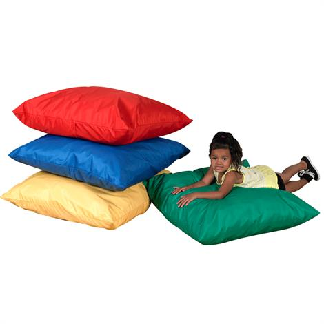 Childrens Factory Cozy Floor Pillows,27 x 27 x 8 inch,4/Pack,CF650-507