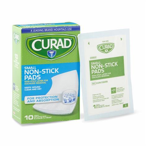 """Medline Curad Sterile Nonstick Pads,2"""" x 3"""",10/Pack,12pk/Case,CUR47395RB"""