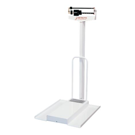 Detecto 485 Mechanical Stationary Wheelchair Scales,Kilograms Model,Each,4851