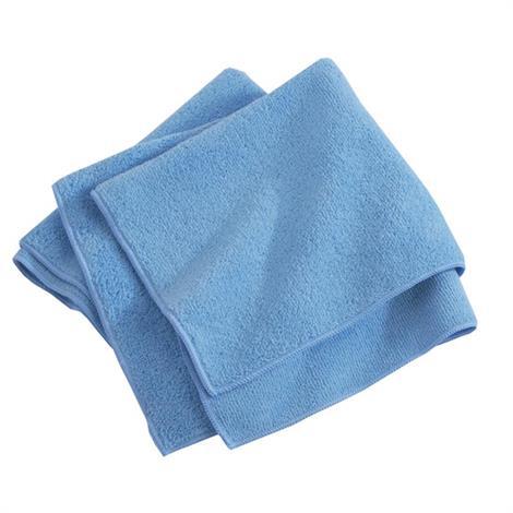 """Medline Microfiber Cleaning Cloths,12"""" x 12"""",Blue,25/Pack,10Pk/Case,MDT217647"""