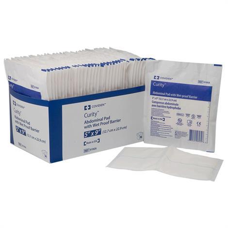 """Covidien Dermecea Sterile Abdominal Pads,5""""W x 9""""L,Sterile,36/Pack,7196D"""