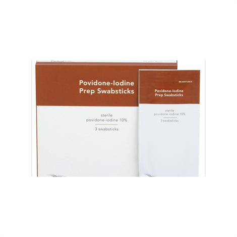 Cardinal Health 10% Povidone- Prep Swabsticks, Prep Solution,3/Pack,ASPVPSBPT - from $0.19