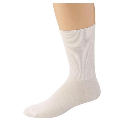 100 Percent Cotton Oversized Socks,Mens,Medium/Large White,6 Pairs/Case,920319