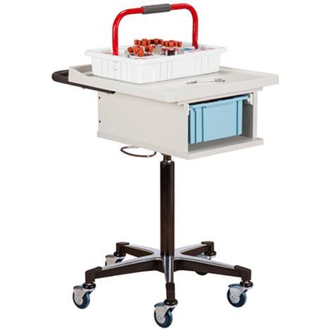 Clinton One-Bin Phlebotomy Cart,Cart with Single White Steel Glove Box Holder,Each,67100-GW-2000