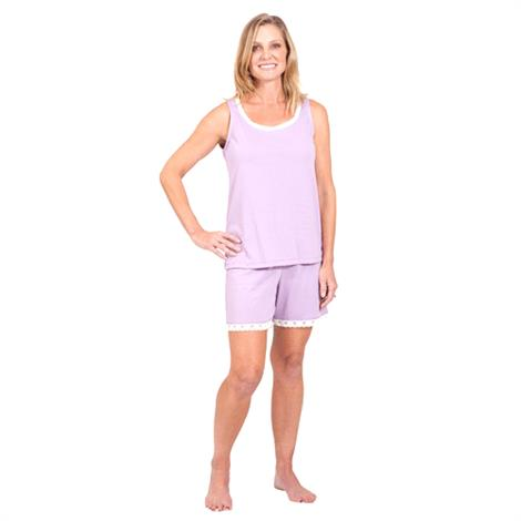 Cool-Jams Moisture Wicking Shorty Pajama Set,Heather,Large,Each,T2150