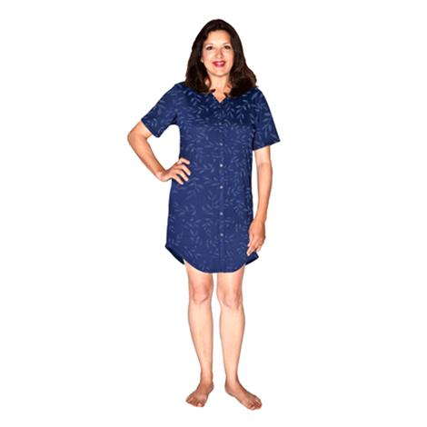 Cool-Jams Moisture Wicking Snap Front Women Nightshirt,2X-Large,Each,T2115