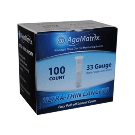 Agamatrix WaveSense iTest Ultra Thin Sterile Lancet,33 Gauge,100/Pack,8000-01971
