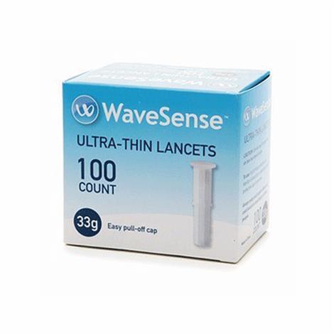 Agamatrix WaveSense KeyNote Sterile Lancet,28 Gauge,100/Pack,800001833