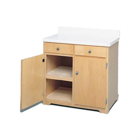 Bailey Double Wide Cabinet,Natural Finish,Each,384-NA