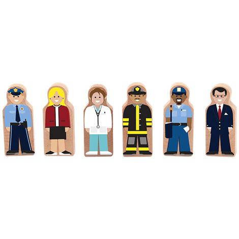 """Melissa & Doug Whittle World People at Work Wooden Set,1.25"""" x 3"""" x .5"""",Each,4072 MDL4072"""