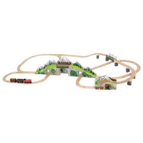 Melissa & Doug Mountain Tunnel Wooden Train Set,26 x 6 x 19.75 Packaged,Each,611