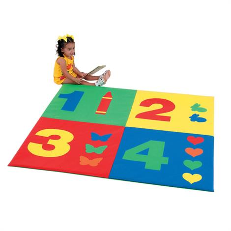 "Childrens Factory 1-2-3-4 Mat,60"" x 60"" x 1"",Each,CF362-161"