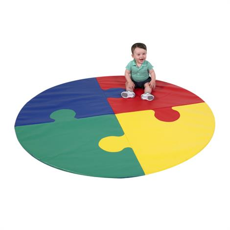 "Childrens Factory Circle Puzzle Mat,72"" x 72"" x 1"",Each,CF322-039"