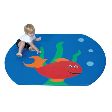 "Childrens Factory Fish Bowl Activity Mat,60"" x 48"" x 1"",Each,CF362-175"