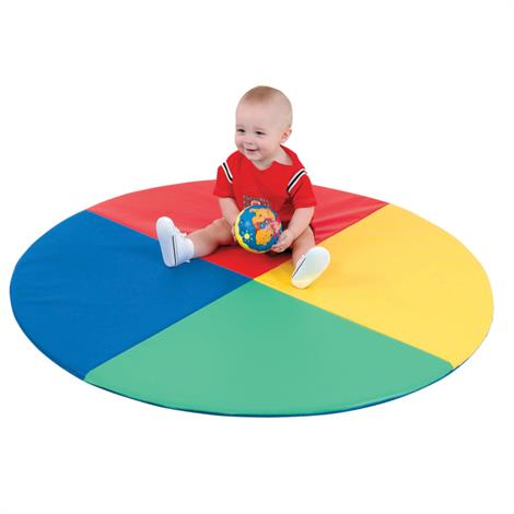 "Childrens Factory Four Color Pie Mat,48"" x 48"" x 1"",Each,CF362-159"