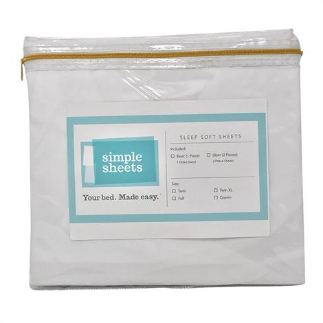 Simple Sheets Twin XL Fitted Bed Sheet,Cream,Each,XTS1CRTXLXTS1CRTXL