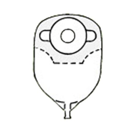 Image of Nu-Hope Convex Round Post-Operative Adult Urinary Pouch with Flutter Valve10/Pack8254-FV-C