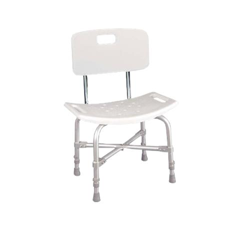 Drive Deluxe Bariatric Shower Chair with Cross-Frame Brace,Knock Down,Without Back,Each,12022KD-1