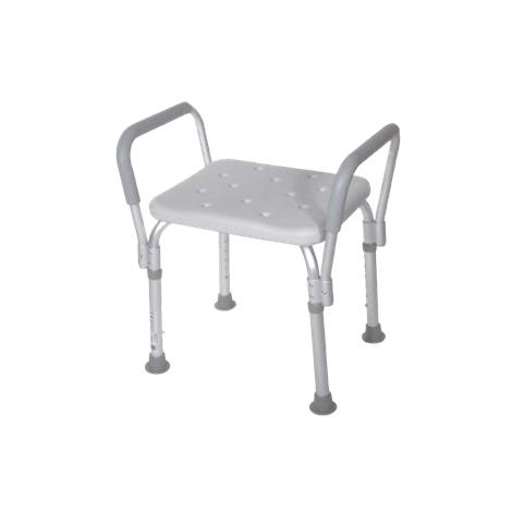 Drive Bath Bench with Removable Padded Arms,With Back,2/Case,12445KD-2