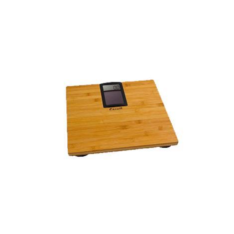 "Escali Solar Powered Bamboo Bathroom Scale,12.25"" X 12.25"" X 1.5"",Each,ECO180"