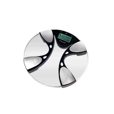 "Escali Glass Body Fat And Body Water Bathroom Scale,14"" X 14"" X 2"",Each,BFBW180"