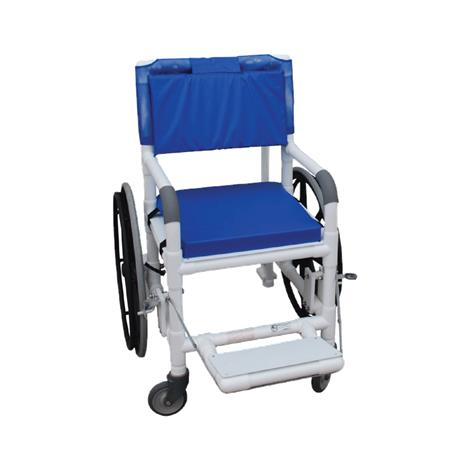 MJM International Non Magnetic Multi Purpose Self Propelled Transport Chair,Forest Green,Each,131-18-24W-MRI