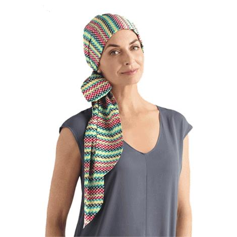 Amoena Waterlily Cotton Scarf With Long Sashes,Waterlily Cotton Scarf,Multicolor,Each,43821