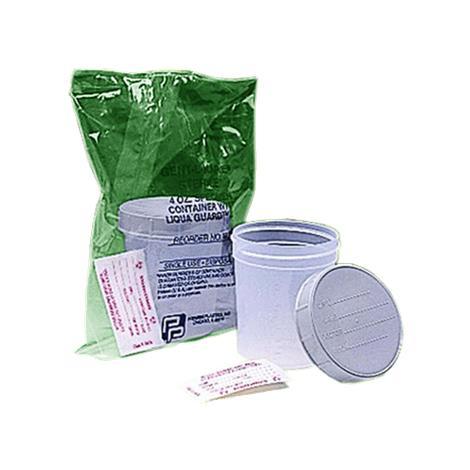 Medegen Gent-L-Kare Specimen Container With Gray Lid,4oz,Sterile,100/Case,4928