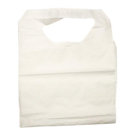 "Dynarex Disposable Adult Lap Bibs,Disposable,With Slipover,16"" x 33"",300/Pack,4406"