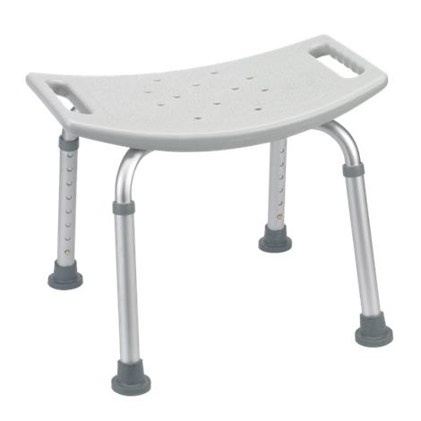 Drive Deluxe Knock Down Aluminum Shower Bench Without Back,Gray,Each,RTL12203KDR