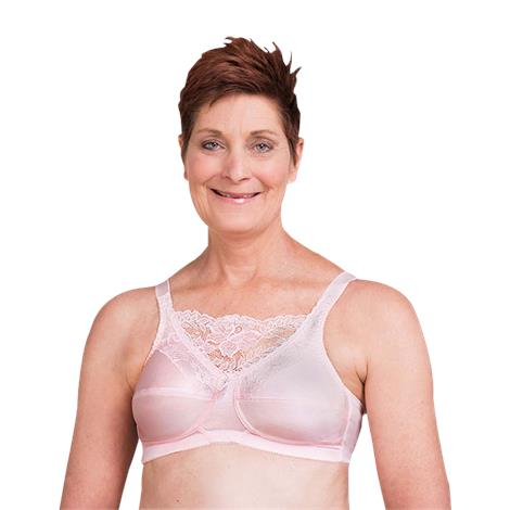 Trulife 4019 Jessica Cami Style Lace Accent Mastectomy Bra,0,Each,4019