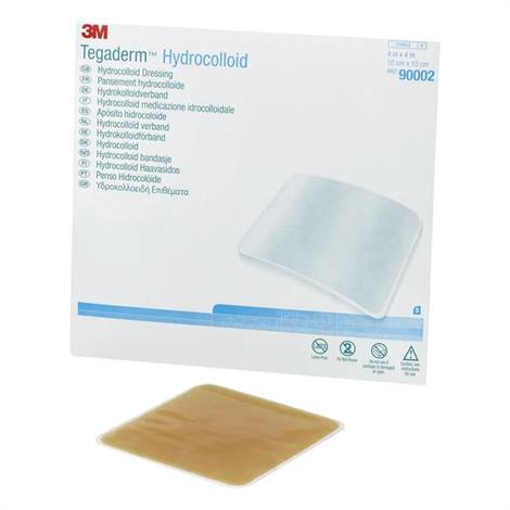 "3M Tegaderm Hydrocolloid Dressing,4"" x 4-3/4"",Oval,5/Pack,90001"