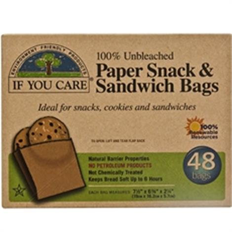 If You Care Soy Wax Paper Sandwich Bag,Sandwich Bag, 48 ct.,12/Pack,B01799