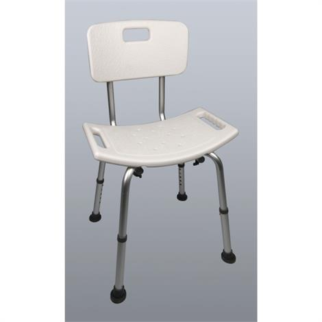 Image of Adjustable Shower Chair with Back,Shower Chair with Back,Each,81706373