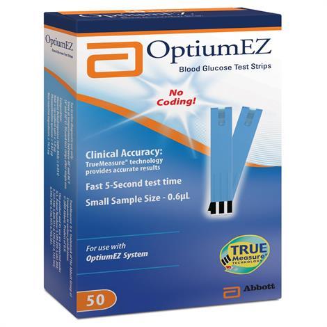 Abbott Optium EZ Test Strip,Test Strip,0.6uL,50/Pack,71041