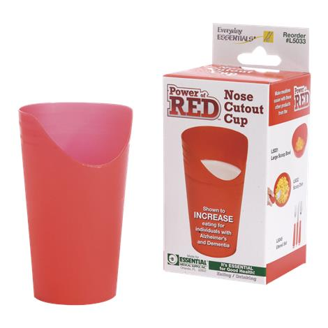 Essential Medical Power of Red Nose Cutout Cup,8oz Fluid Capacity,Each,L5033