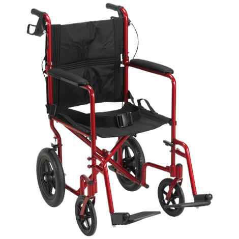 "Drive Lightweight Expedition Aluminum Transport Chair,Blue,Seat 19""W x 16""D,Each,EXP19LTBL"