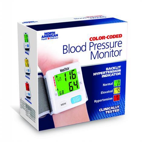 Jobar Color Coded Slim Wrist Pressure Monitor,White,Each,JB8149WHI