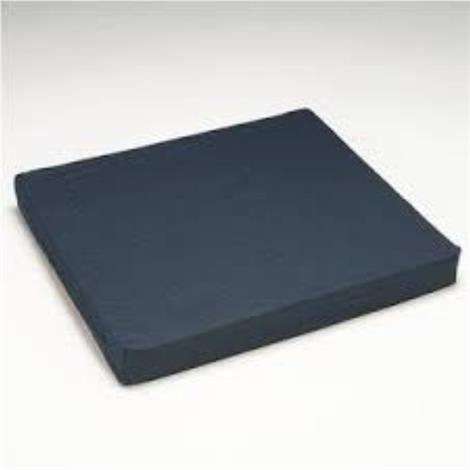 Hermell Memory Foam Cushion With Poly And Cotton Cover,Wheelchair,Navy,16