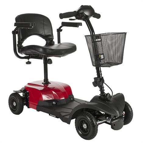 "Drive Bobcat X4 Four Wheel Transportable Scooter,16.5"" Folding Seat,Each,BOBCATX4"