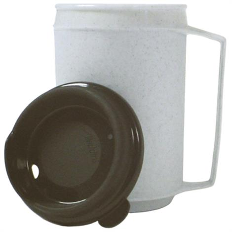 Fabrication Mugs And Lids,Insulated Mug with No Spill Lid,Each,60-1080
