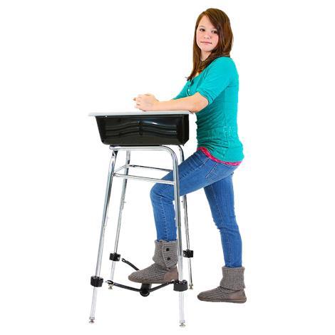 "Standing Desk Conversion Kit with FootFidget Footrest,Diameter: 1"" Leg Length: 19"",Each,960580"