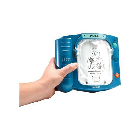 "Philips HeartStart OnSite Defibrillator,2.8""H x 8.3""W x 7.4""D (7cm x 21cm x 19cm),Each,M5066A"