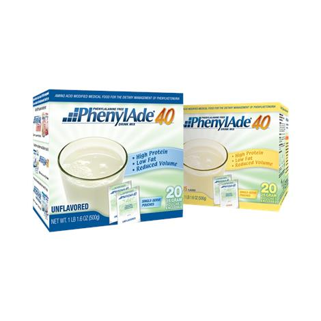 Applied PhenylAde 40 Drink Mix,25gm Pouch, Citrus Flavor,20/Pack,95414