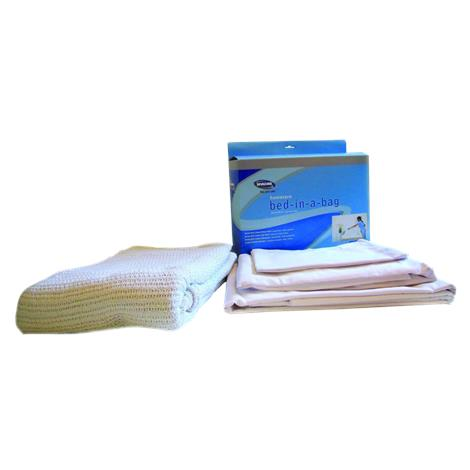 ReliaMed Home Care Bed-in-a-Bag,Standard,White,Each,661EBBCB