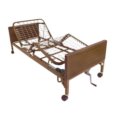 "Drive Semi Electric Single Crank Hospital Bed,With Full Length Side Rails and 80"" Foam Mattress,Each,15004BV-PKG-2"