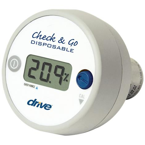 Drive Check And GO Oxygen Analyzer With Three Digit LCD Display,O2 Analyzer,Each,18580