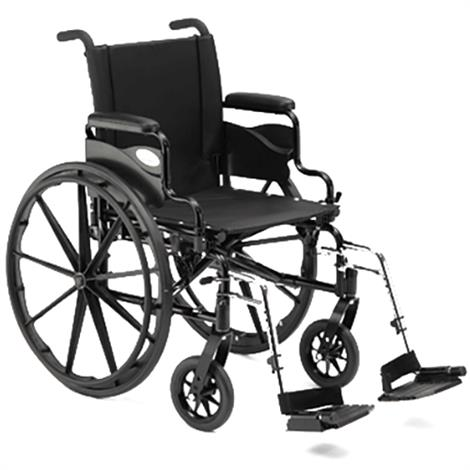 "Invacare 9000 XT 20 Inch Lightweight IVC Manual Wheelchair,20""W x 16""D With Fixed Height Space - Saver Desk Arm,Each,9XT_PTO_33131"