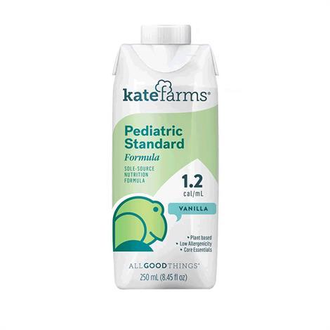 Kate Farms Pediatric Standard Formula,Vanilla,8.45Fl.Oz,12/Pack,Xkbv05Vataj01